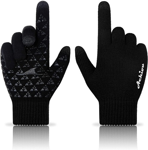 Achiou Winter Knit Gloves Touchscreen