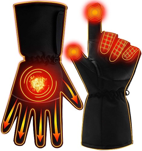 GLOBAL VASION Electric Rechargeable Heated Gloves Touchscreen Gloves