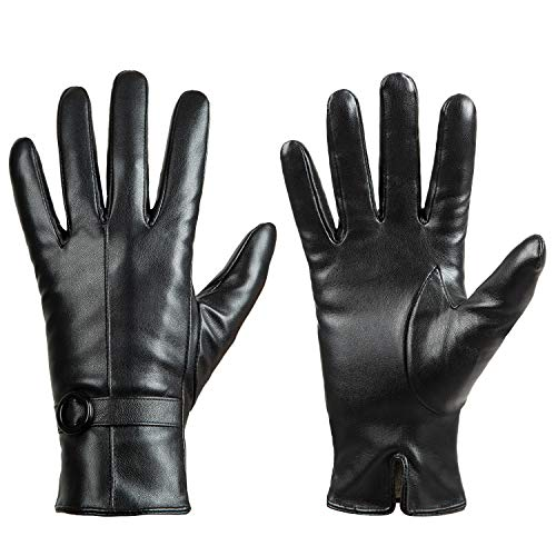 Winter Leather Gloves for Women, Touchscreen Texting