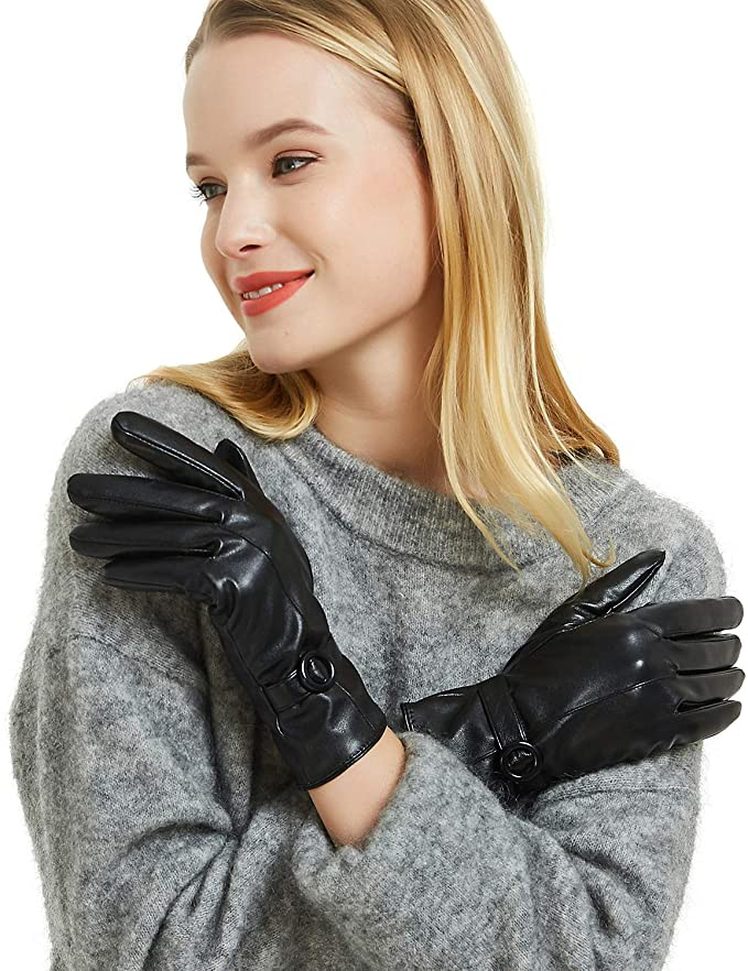 Women's Winter Leather Gloves